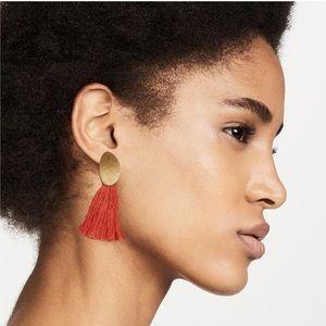 Madewell Tassel Petal Earrings